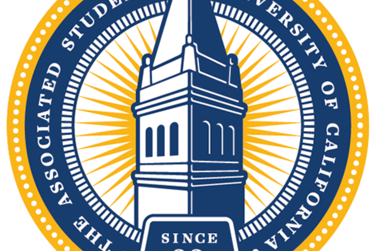 The ASUC seal with a picture of the Campanile in the middle