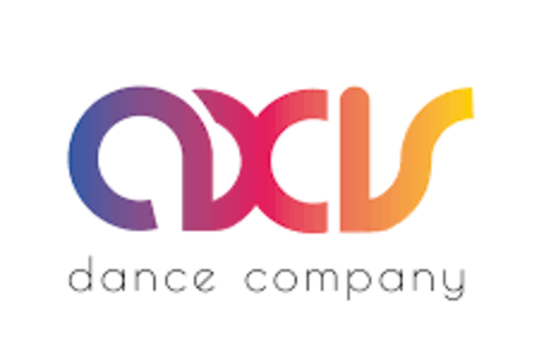 "AXIS's logo, a rainbow gradient-colored font of the word ""AXIS"""