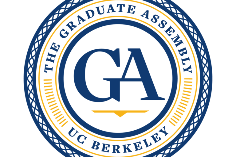 The GA seal, a blue and yellow circle with the letters GA in the middle.