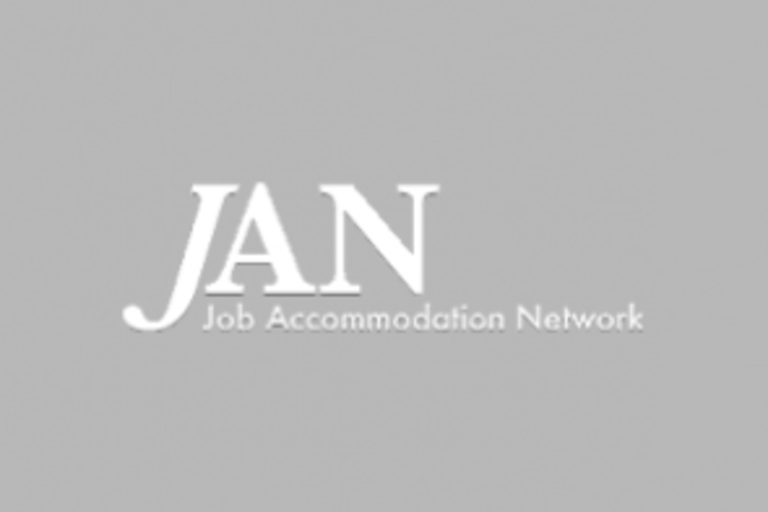 "The letters JAN, with ""Job Accommodations Network"" under it."