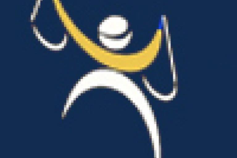 SAO's logo, a stick figure holding two curved shapes.