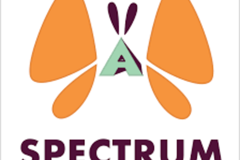 Spectrum's logo, an orange butterfly, where its body is the letter A