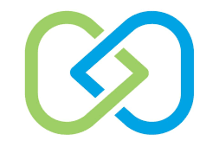 Toolworks's logo, two blue and green O's intertwined with a diamond.