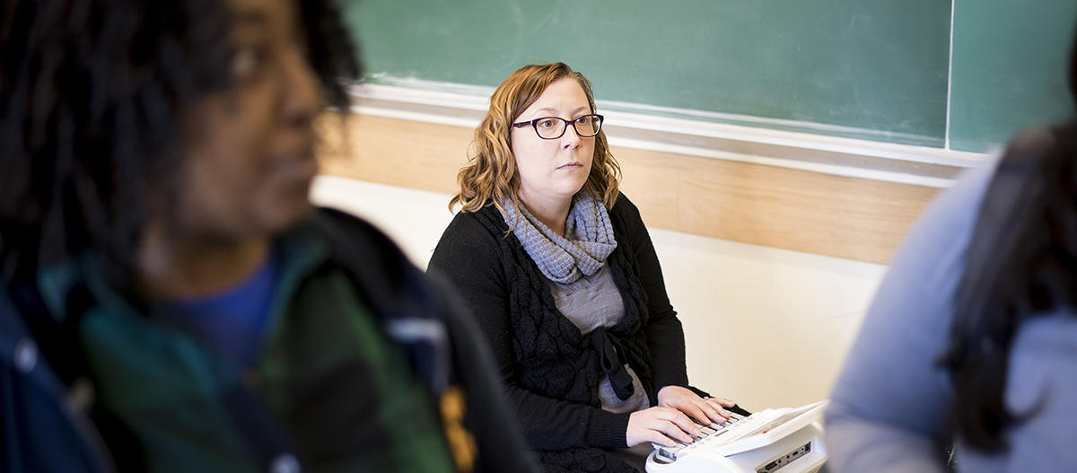 Transcription services are provided for students in their classrooms.