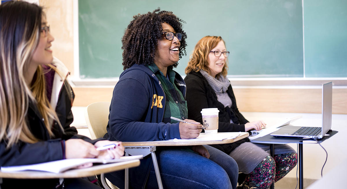 Services are provided for students with disabilities in the classroom.